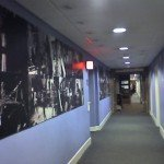 The corridor in Abbey road lined with photos of recording artists