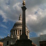The view of St. Paul's Cathedral as we come to the rehearsal with the LSO of Beethoven 9th Symphony