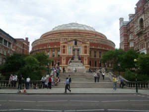 the south steps of the Royal Albert Hall