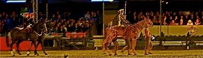Joey from Warhorse leads the parade at the Windsor Horse Show