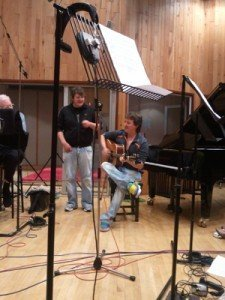 Eion and Moley from size2shoes do an impromptu performance at Angel Studios
