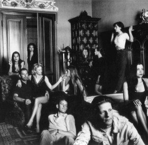 Jan Fabre and the cast of Das Glas im Kopf