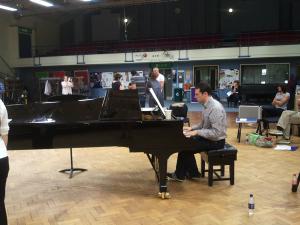 John Wilson rehearses the Maida Vale Singers for his BBC Prom