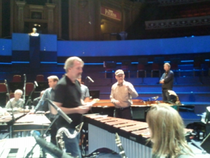 Steve Reich chats to Ensemble Modern in a rehearsal for BBC Proms