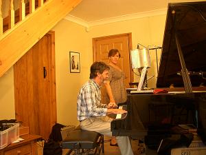 "Heather Cairncross and David Newton recording her album ""At Last"""