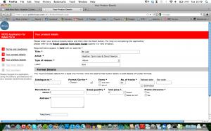 screenshot of AP2 MCPS form