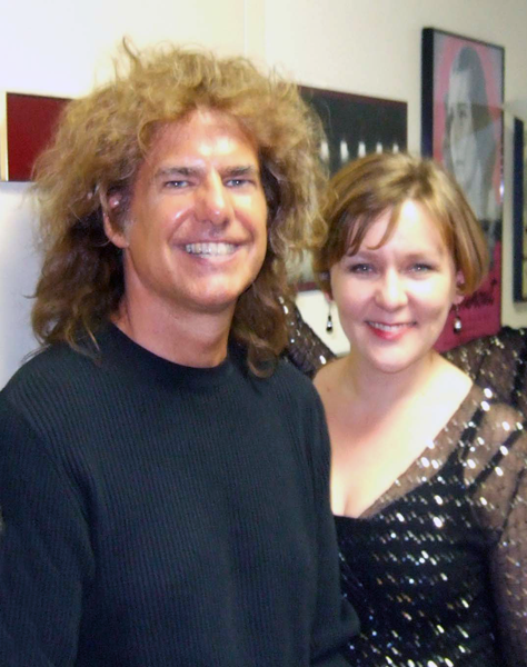 Pat Metheney and Heather Cairncross backstage at Carnegie Hall