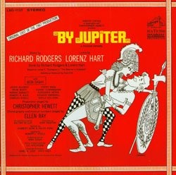 poster design for By Jupiter by Rodgers and Hart