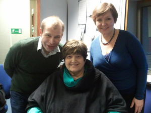 Joe Talbot and Pauline the producer with singer Heather Cairncross