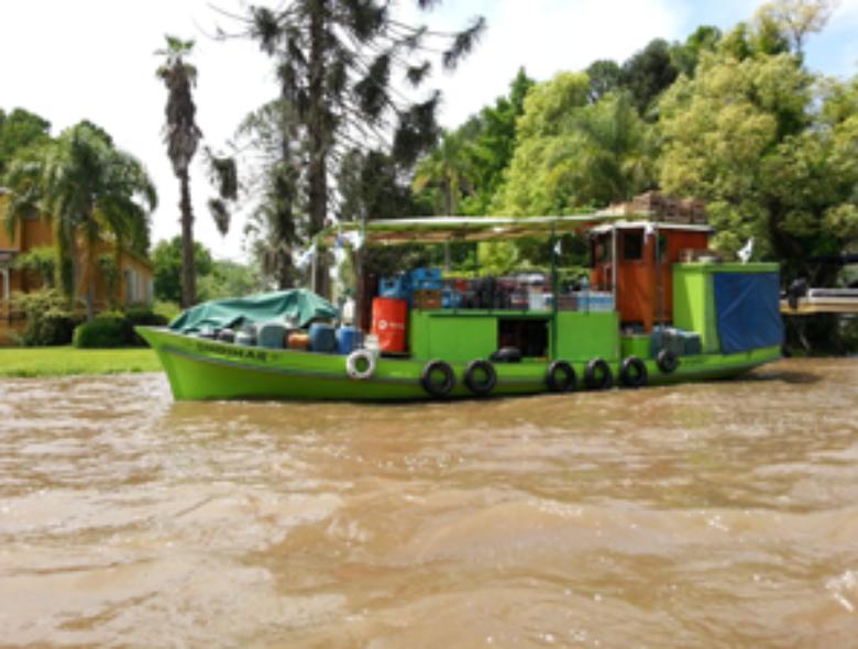 supermarket boat on the Tigre Delta in Argentina