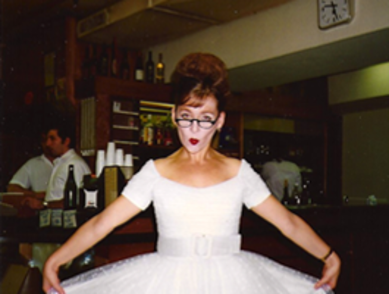 Heather Cairncross in her costume for Outis at La Scala