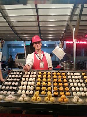 animal dumpling stall