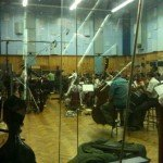 The LSO from the control room at Abbey Road studio 1 during the Joe Hisaishi session