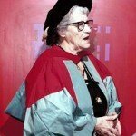 the Entomologist Miriam Rothschild collects her honorary degree