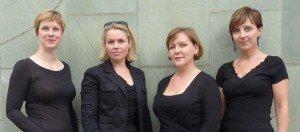 The Synergy Girls Sinfonia Team in black