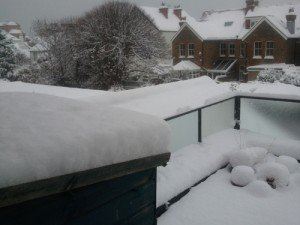 My Sussex Balcony Under UK Snow