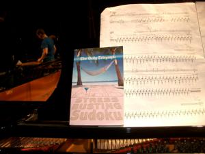 Stress Busting Sudoku on a Steve Reich Piano score