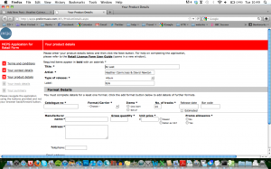 screenshot of AP2 MCPS form