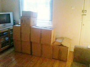 the boxes of the new allbum arrive At Last!