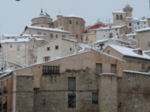 Cuenca Old town in the snow