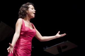 Dutch Soprano Lenneke Ruiten passionately sings an aria
