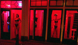 The red light windows of Amsterdam