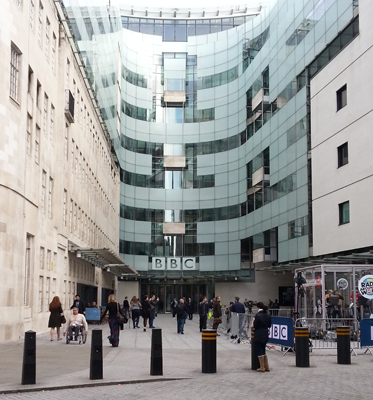 Approaching Broadcasting House for WIR London Event